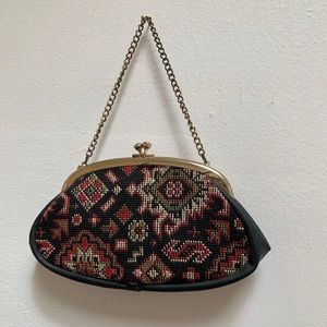 Vintage Woven Fabric Clutch Purse